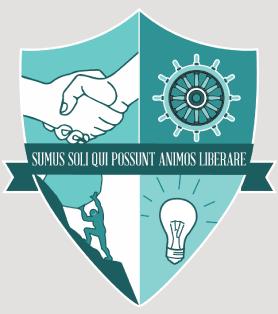 """El logo de Esperanza Social Venture Club, que dice """"Somos los únicos que podemos salvar nuestras almas"""""""